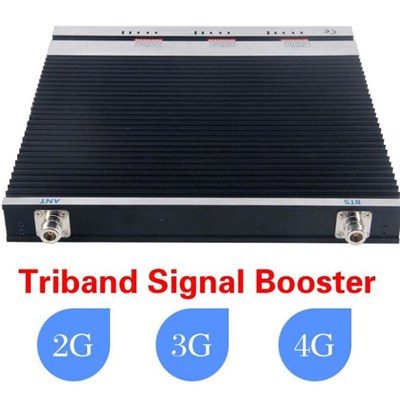Max Coverage 3500m2 GSM900 DCS1800 3G 2100 Tri band signal repeaters