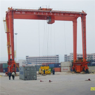 Rail mounted double girder 32t gantry crane manufacture in China