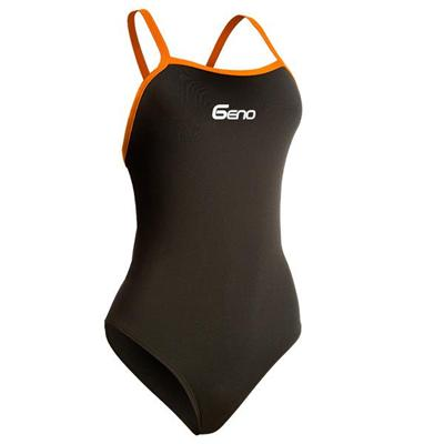 Thin Strap Flyback Swimsuit Chlorine Resistant And UV Protection