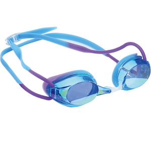 Rainbow Mirror Lens Optional Nose Belt Racing Swim Goggle for Girls