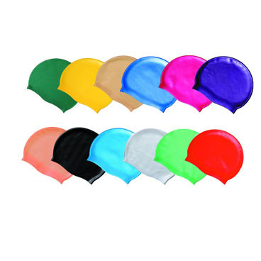 High Quality Solid Color Silicone Molded Swim Caps for Competition