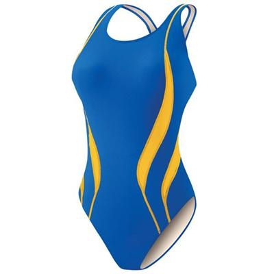 Women's Swimsuit Fastback Design For Practice And Competition UPF 50+