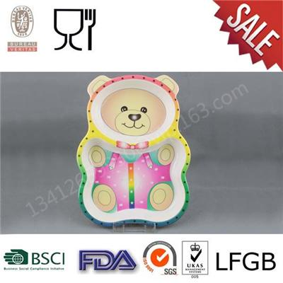 Hot Selling Melamine Bear Shape Plates,Melamine Plates for Children
