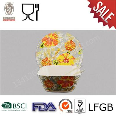 New Design Hot Selling Factory Wholesale Melamine Classical Dinner Set