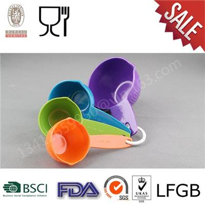 High Quality ,Hot Selling Melamine Kitchen Tools,Colorful Melamine Measure Set