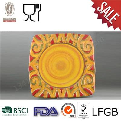 Cheap Price High Quality Large Square Classical Melamine Elegant Square Plate