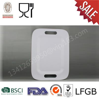 Solid Color Factory Wholesale Cheap Price Customized Melamine Tray For Restaurant