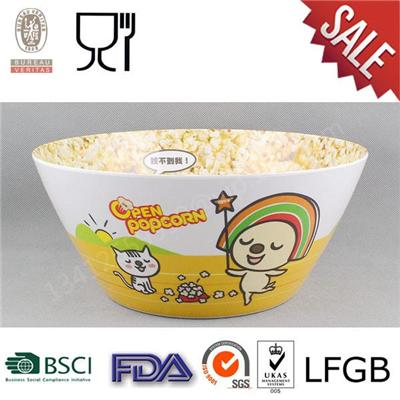 Hot Selling Cute Design v-Shaped Melamine Salad Bowl