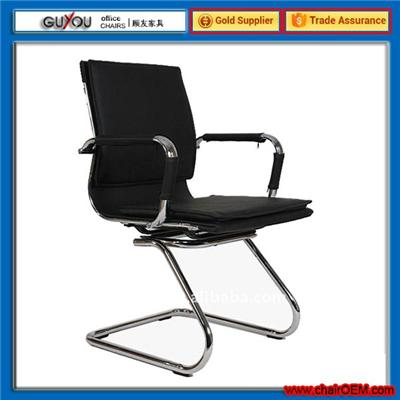 Y-1763C Fancy middle back conference chair with Padded Armrests/steel PU office chair