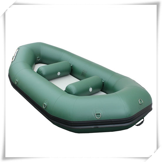 2-Person Inflatable Dinghy with Aluminum Oars & Air Pump