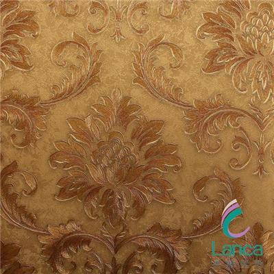 Latest Royal Flower Embossed Washable Design Pvc Classic Wall Paper LCPE1100207