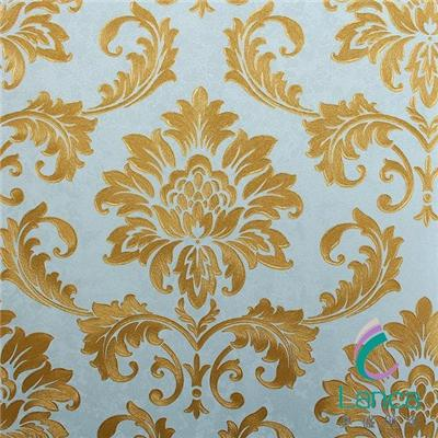 Waterproof Flower Design Vinyl Coated Wallpaper LCPE1100205
