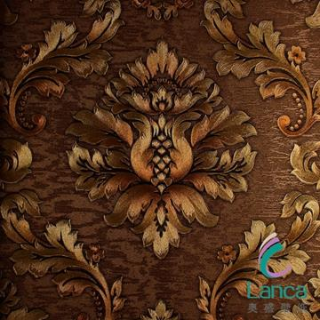 Latest Classic Pvc Decorative Wallpaper For Restaurant LCPE081 888102