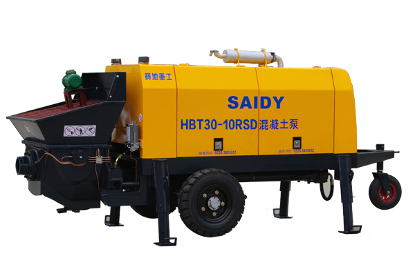 diesel engine trailer concrete pump/concrete pump with diesel engine/fuel concrete pump