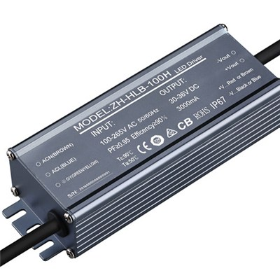 100W 3,100mA power driver, constant current, for outdoor LED lights