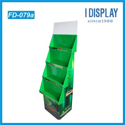 Lubricant display for motor oil bottles promotion stand rack in supermarket