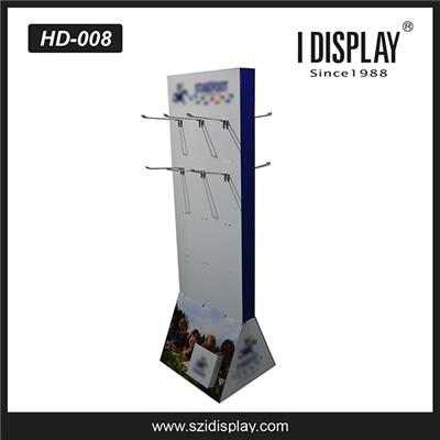 High quality cardboard hook display,various size hook display stand