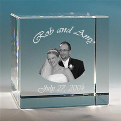 Crystal Block Photo Frame