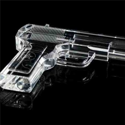 3D Crystal Gun Model