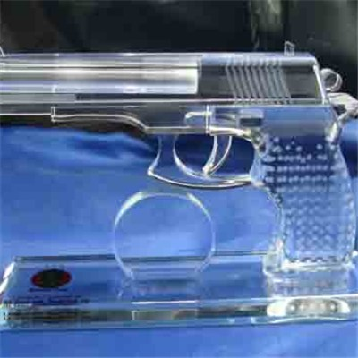 Crystal Glass Pistol Model