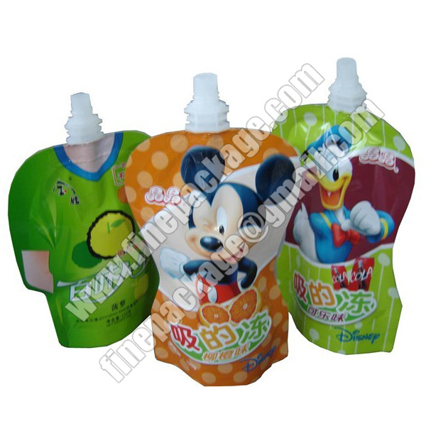beverage packaging bags with spout