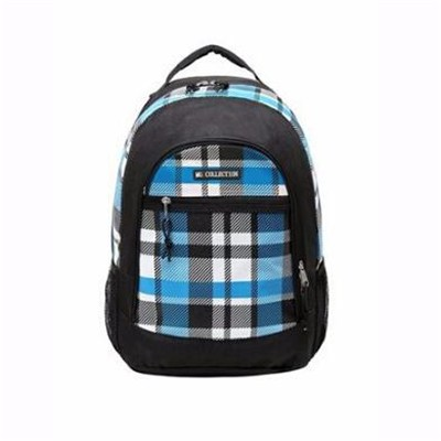 Blue Plaid Children Book Bag Backpack Kids School Shoulder Bag