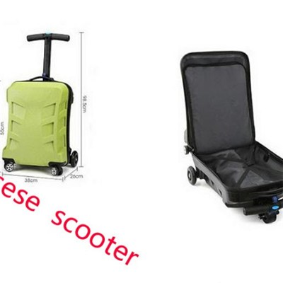Kick Luggage Scooters with 120 Angle Steering and Knock-Down Design