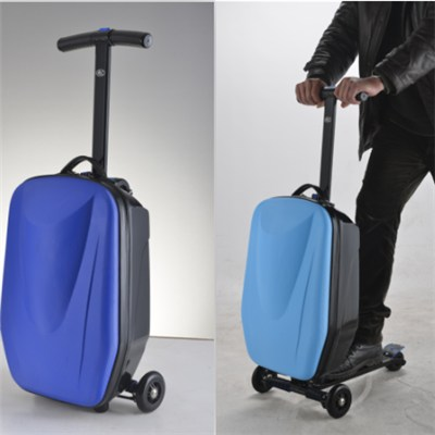 The Newest Invention Luggage Scooters with Dismountable System and 120 Angle Steering
