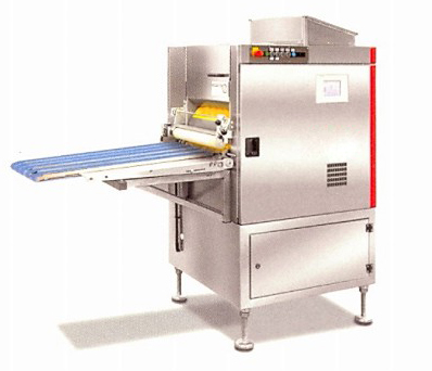 Continuous dough divider and rounder/ hamburger moulder