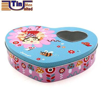 Heart Shape Cosmetics Tin Box