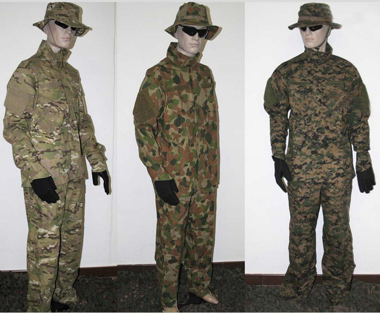 Military Camouflage BDU ACU CP Uniform Overall Uniform Training Uniform Work Uniform Fatigue Uniform Track Suits