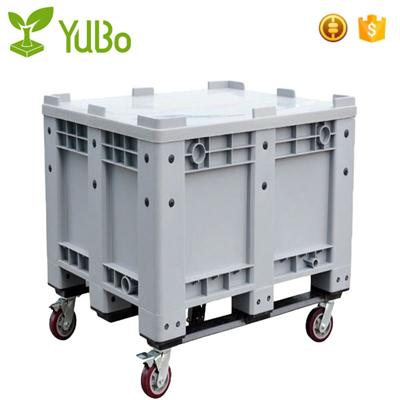 1200*1000mm 100% Virgin HDPE Solid Plastic Pallet Bin With Wheels