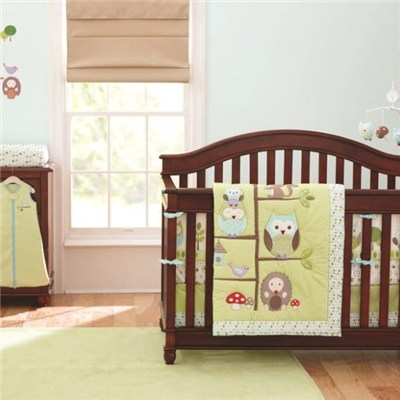 Boutique Owl And Tree Design Unisex Baby Boy Or Girl Bedding 9 Pc Crib Set