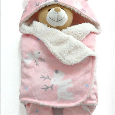 Best Price Chinese Animal Hooded Baby Swaddle Blanket Manufacturer China