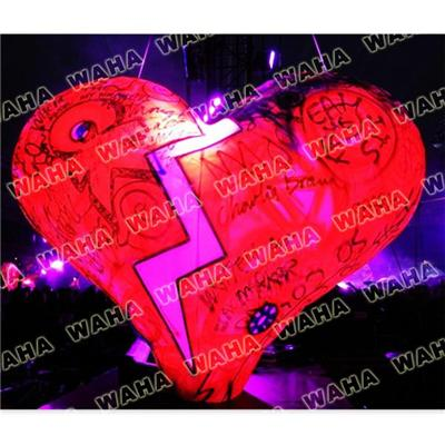 Wedding Decoration Inflatable Heart Model With Silver Letters