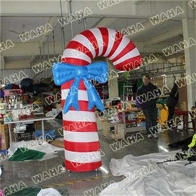 Hot Sale Inflatable Candy Cane With Led Light