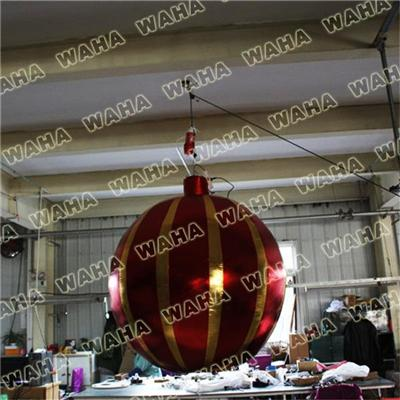 Inflatable Hanging Led Christmas Ornament Ball For Decoration