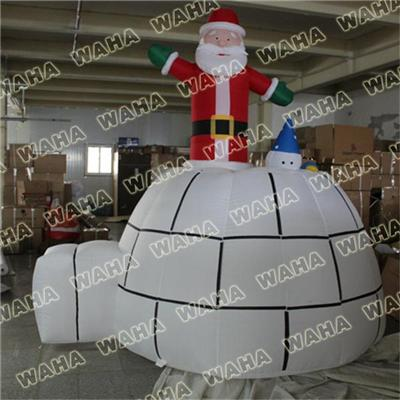Best Selling Inflatable Grinch Santa In Chimney