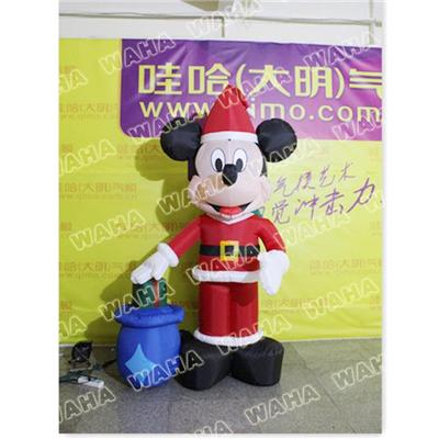 Giant Inflatable Mickey Mouse For Christmas Decoration