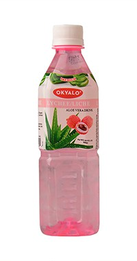 Okyalo 500ml aloe soft drink with lychee flavor