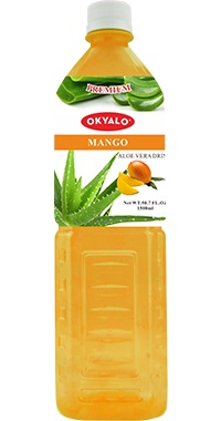 Okyalo 1.5L aloe soft drink with mango flavor