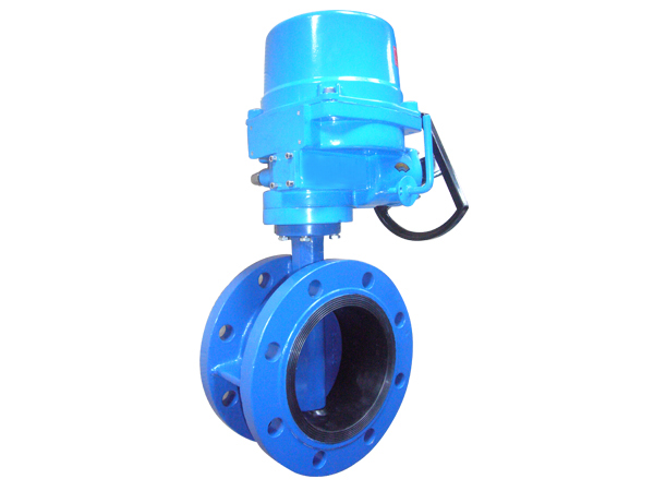 PN10/16/ANSI150 Double Flanged drilling/vulcanizaed butterfly valves