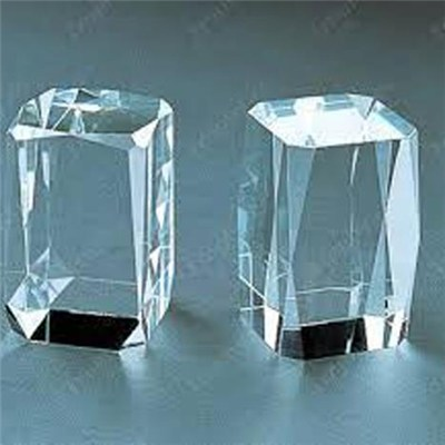 Octagonal Crystal Cube For 3D Picture Image Engraved