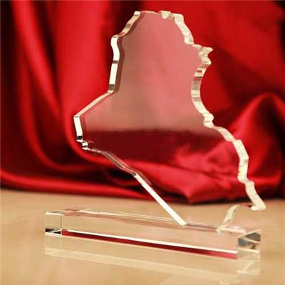 Crystal Iraq Map For Corporate Gifts