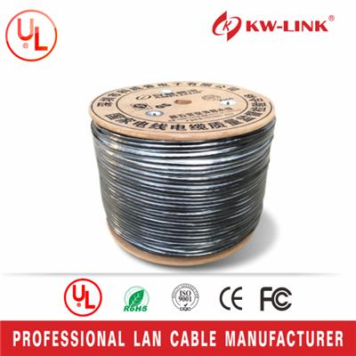 CM Rated Cat5e CCA UTP Outdoor LAN Cable, Black