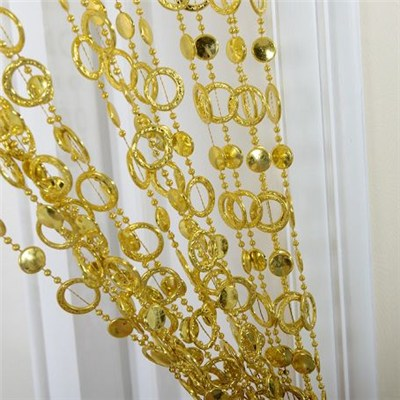 Gold Loop Chain Door Curtain