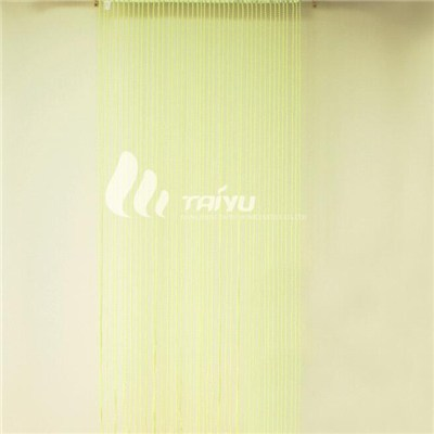 Green Pellet Door Window Fringe Wall Panel Room Divider Tassel String Curtain Drape