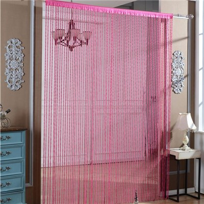 Red Spiral String Curtain