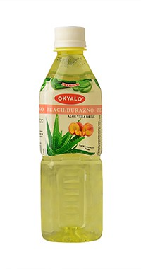 Okyalo 500ml raw aloe vera drink with peach flavor Okeyfood