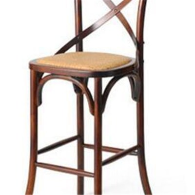 Wooden Double C High Bar Stool Chairs